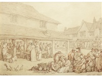 waltham abby [sic] market by thomas rowlandson